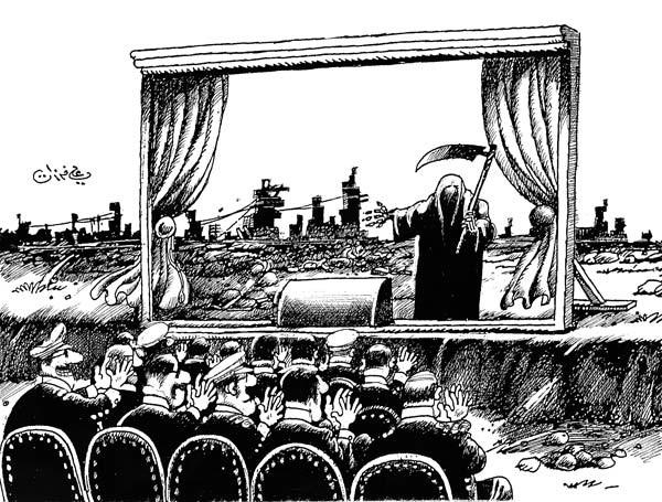 Dessin du caricaturiste syrien Ali Ferzat